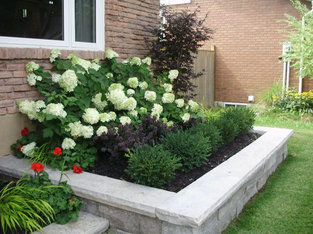 big flowery bushes in back small shrubs in front on beautiful front yard rock n flowers garden landscaping ideas how to create it id=22368