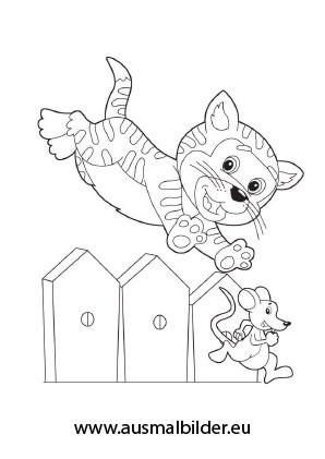 Ausmalbild Katze Fangt Eine Maus Zum Ausmalen Ausmalbilder Malvorlagen Katze Ausmalbilde Ausmalbilder Katzen Katze Zum Ausmalen Ausmalbilder Tiere