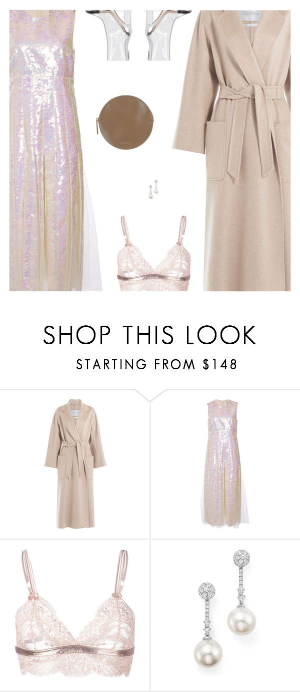 """Shine"" by amberelb ❤ liked on Polyvore featuring MaxMara, Christopher Kane, Loveday London, Kendall + Kylie, TARA Pearls and Jil Sander"