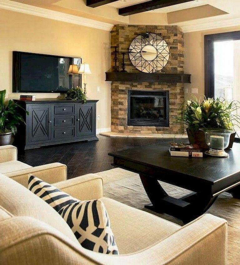 36 Extraordinary Living Room Decor Ideas Corner Fireplace Living Room Living Room Decor Apartment Farm House Living Room