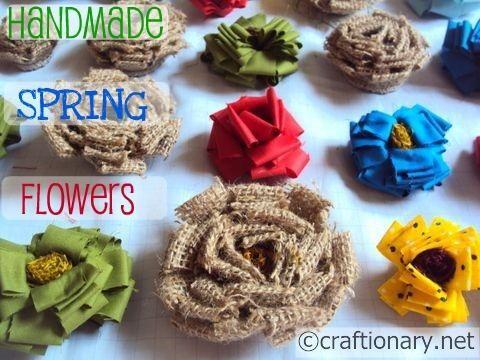 Easy burlap flowers