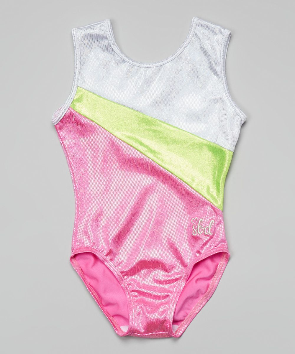 Lime & Hot Pink Michelle Leotard - Toddler & Girls | something special every day