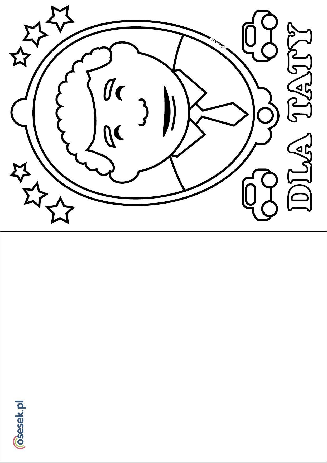 Kolorowanka Laurka Na Dzien Taty Jpg 1240 1754 Cards Character Education