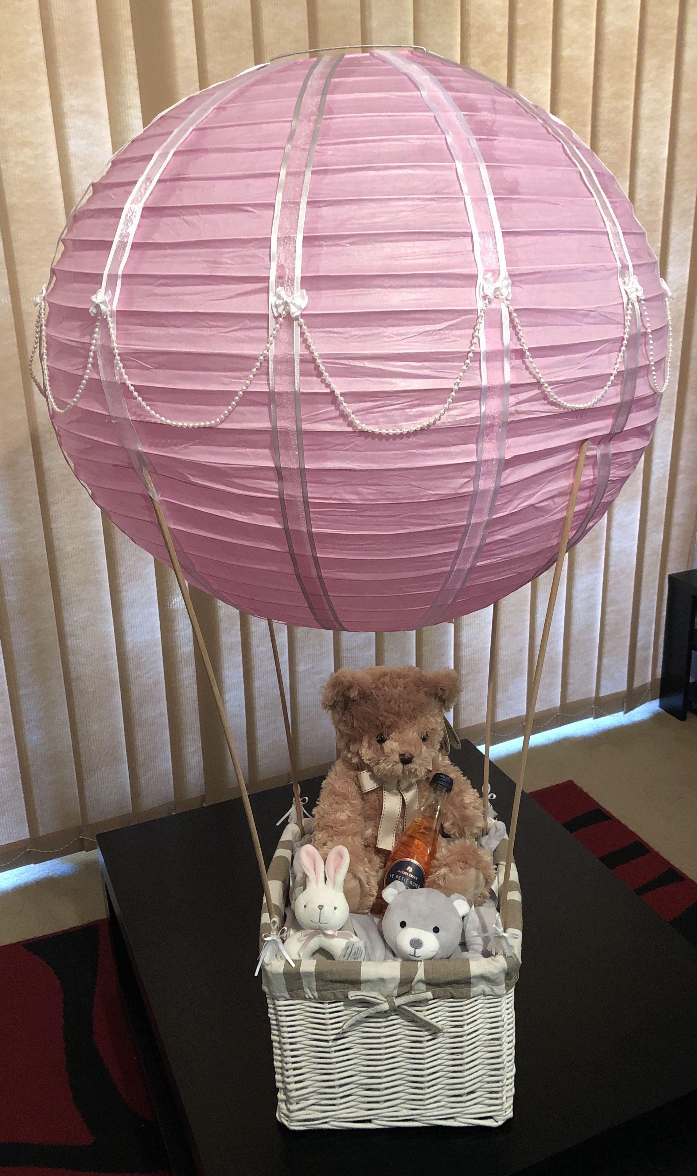 Hot Air Balloon Gift Basket : balloon, basket, Balloon, Basket, Shower,, Gift,