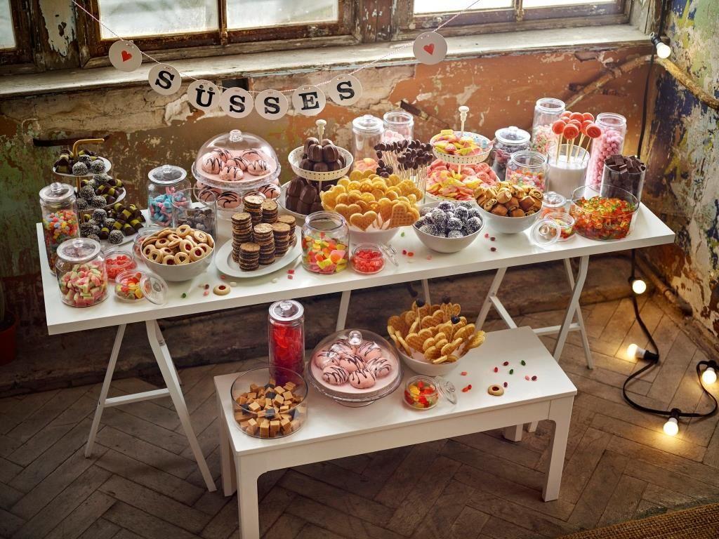 Candybar am Hochzeitsbuffet