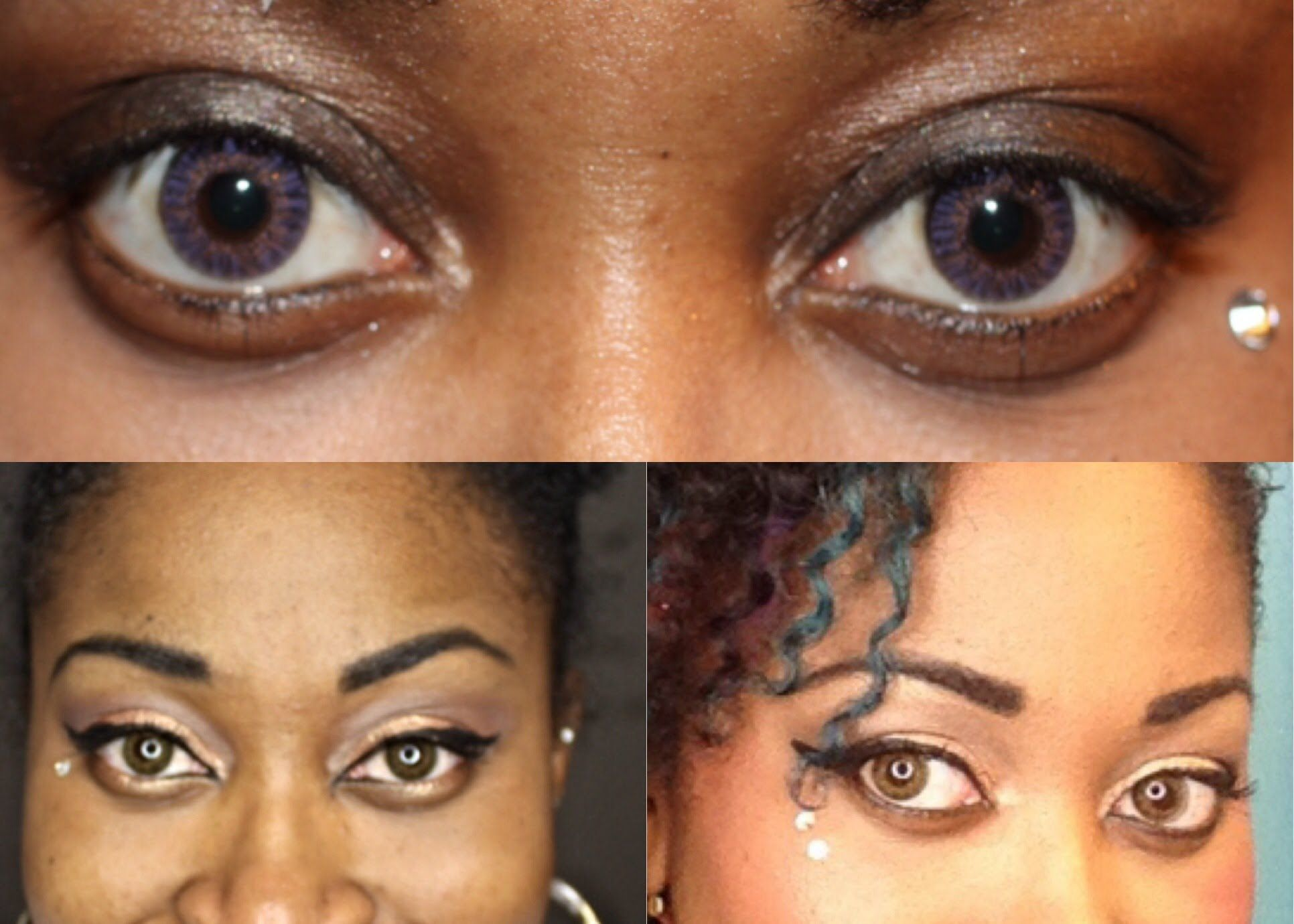 amethyst freshlook colorblends contacts vs hazel freshlook colorblends c - Colored Contacts Hazel