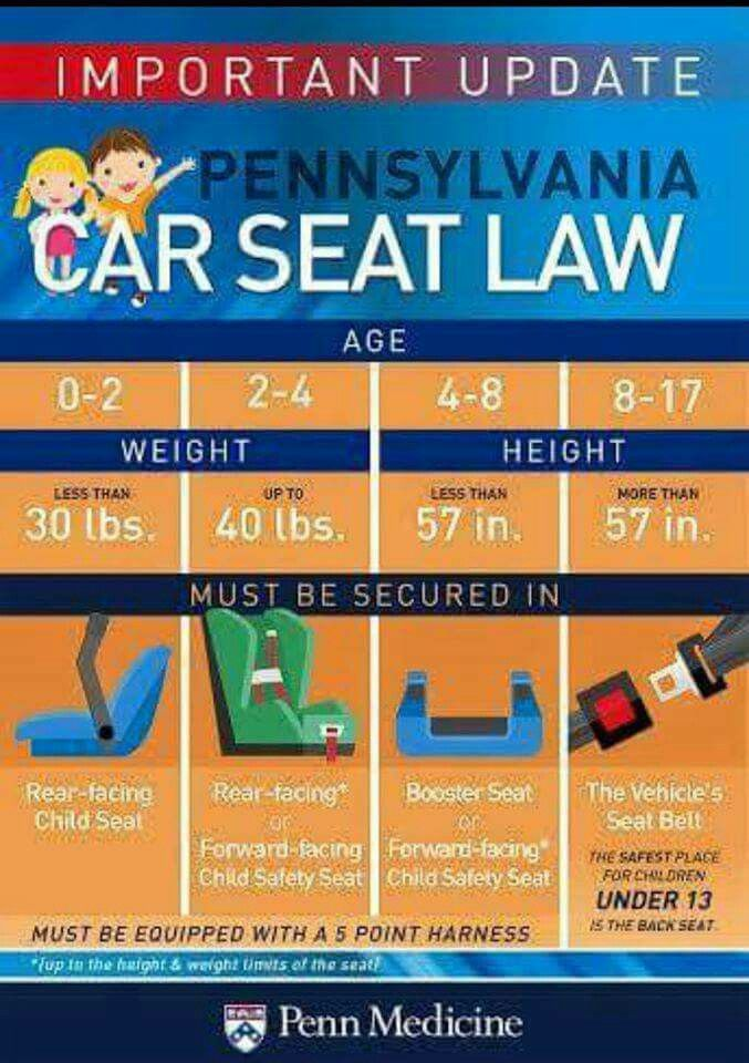 2017 Pa Car Seat Laws Seats And Baby Products