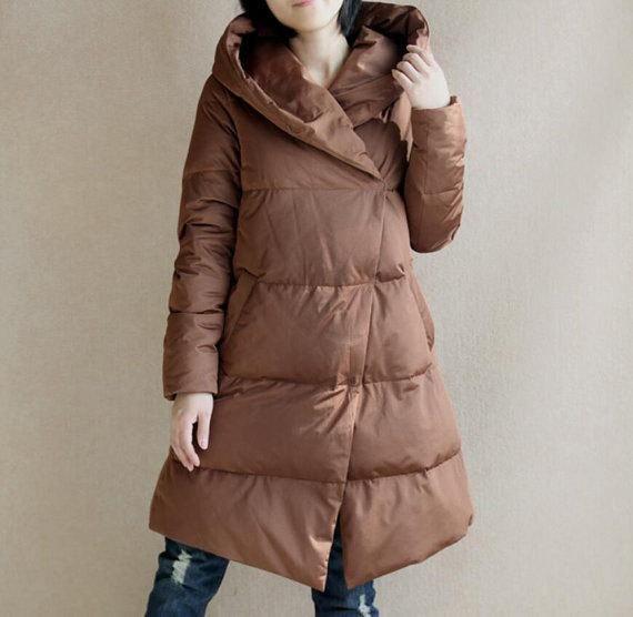 5a5a543b608 A-Line Down Coat Winter Down Jacket Hooded Down jacket Thick Women Warm  Down jacket Many Colors Plus