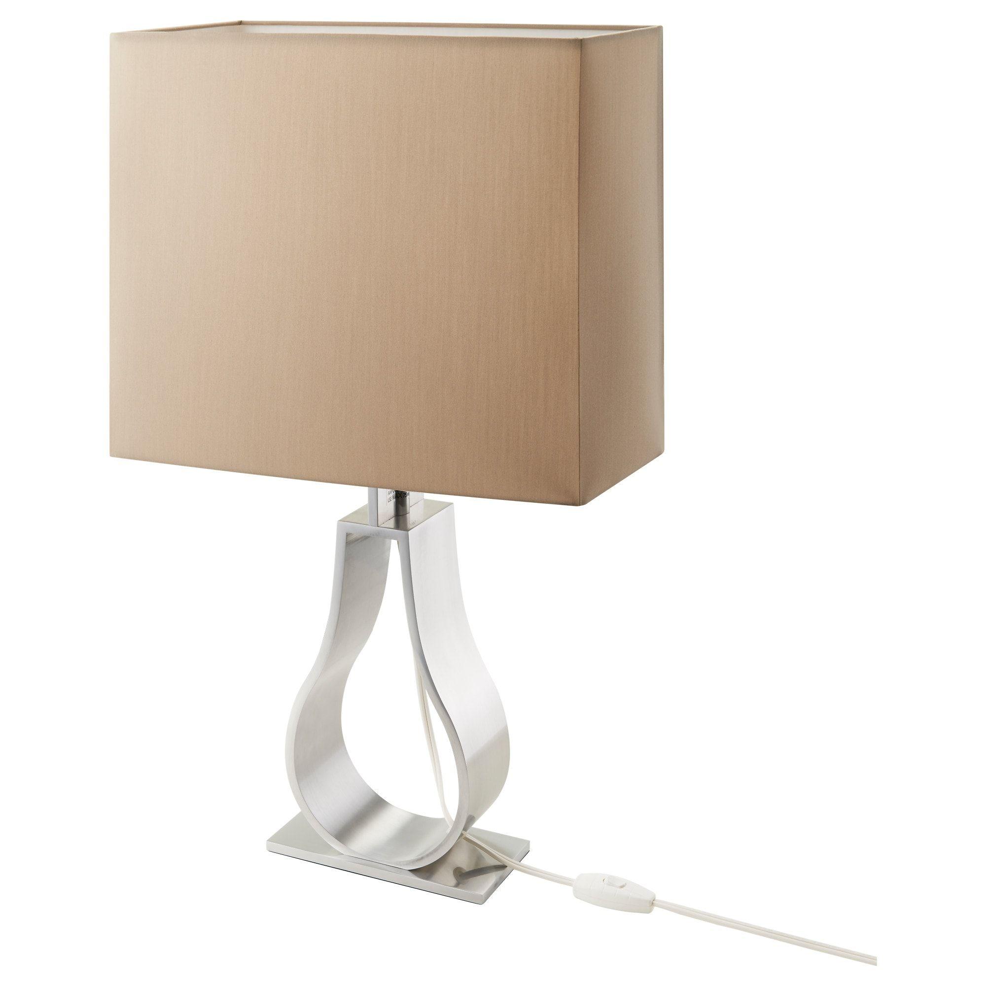 Ikea Klabb Light Brown Nickel Plated Table Lamp With Led Bulb Table Lamp Floor Lamp Room Lamp