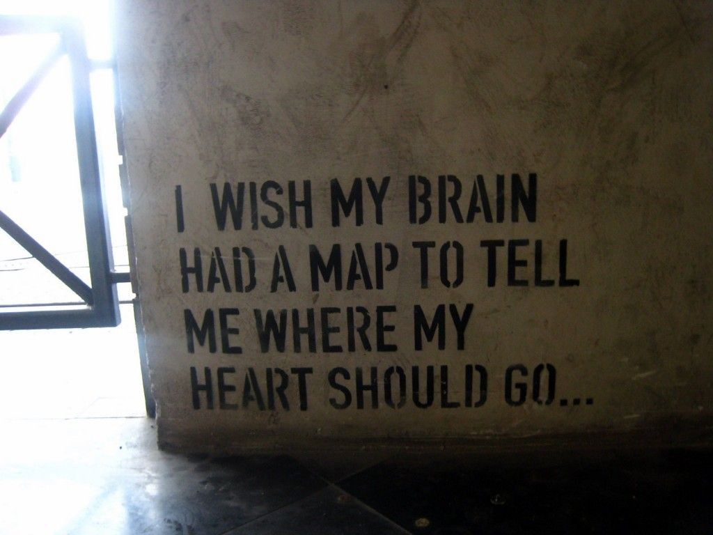 """""""I wish my brain had a map to tell me where my heart should go."""""""