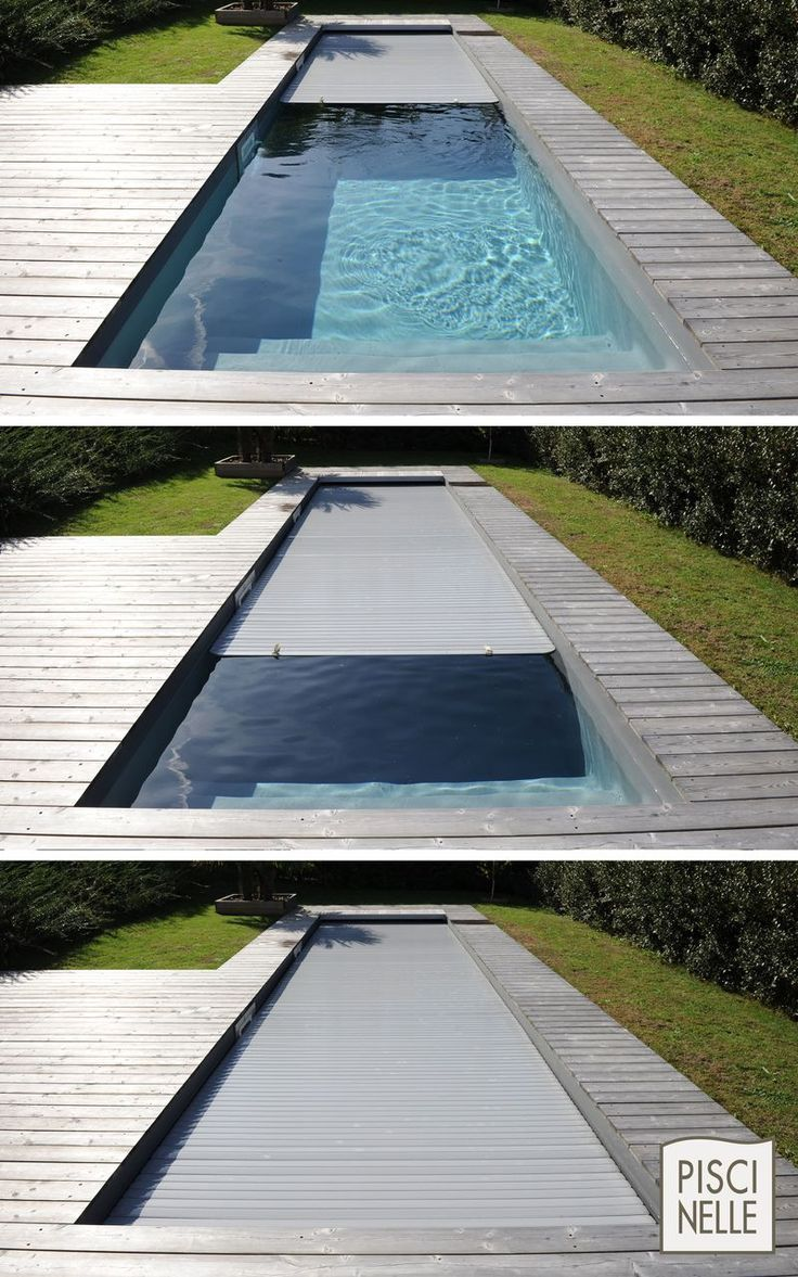 Automatic underwater cover for complete protection of the swimming pool.,