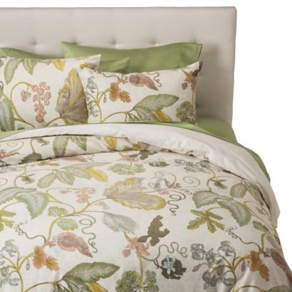 threshold™ botanical duvet cover set - green (target) (king: 94.0