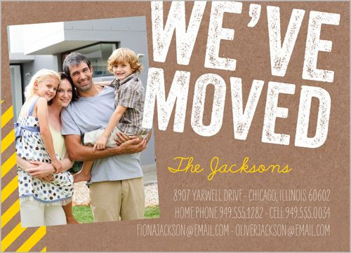 Weve Moved Stamp 5x7 Stationery Card By Jillgo