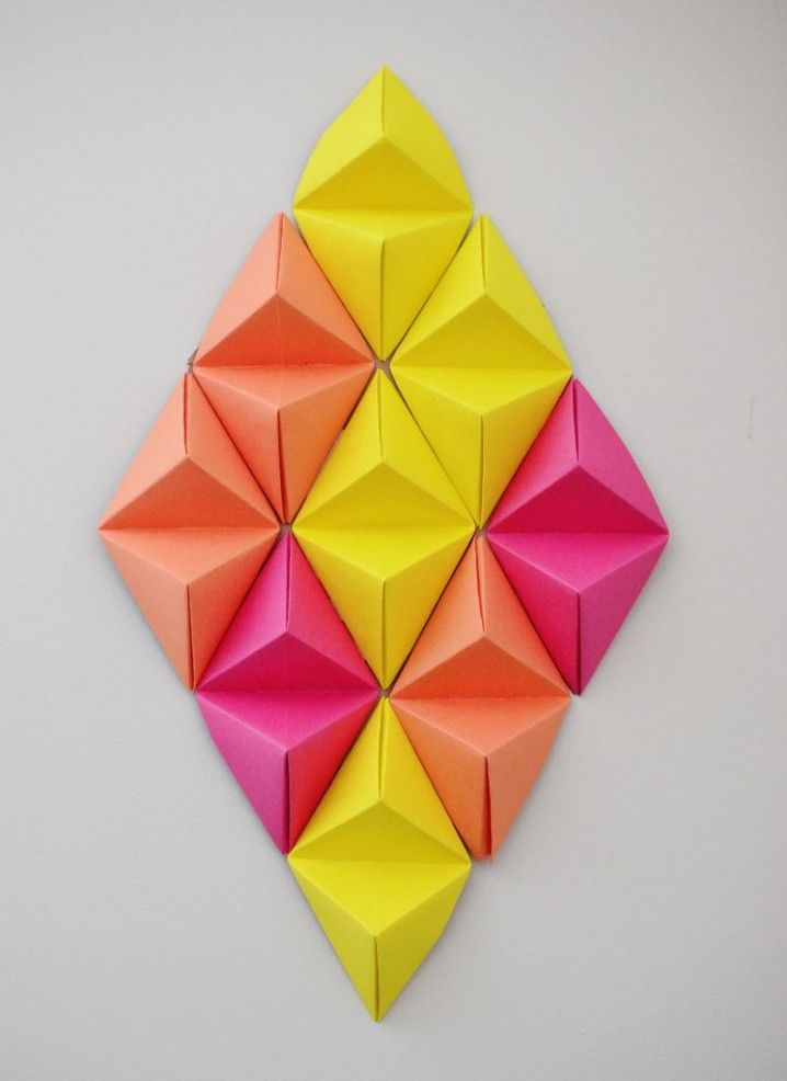 DIY Projects: Paper Wall Art for Your Rooms | Paper walls, Origami ...
