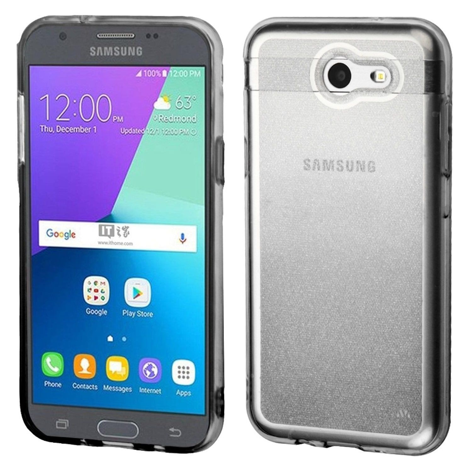 Insten TPU Rubber Candy Skin Case Cover For Samsung Galaxy Amp Prime 2 Express Prime