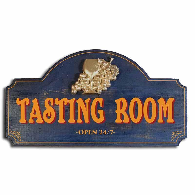 WINE CELLAR Sign Metel vintage retro look for Home Bar Restaurant Man Vineyard
