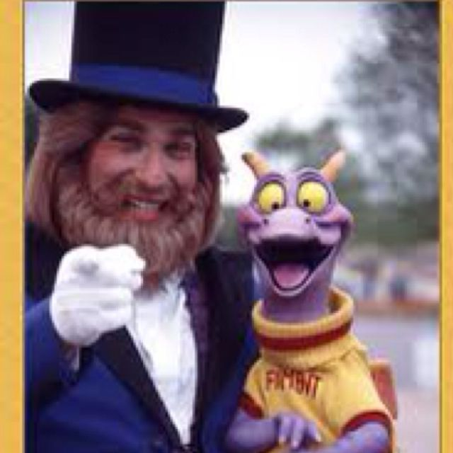 Dreamfinder and Figment 1981 Epcot
