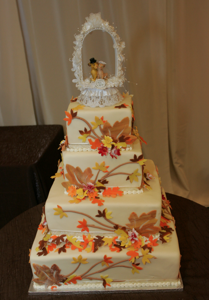 Disneys Lion King Cake Topper For A Fall Themed Wedding San - Lion King Wedding Cake