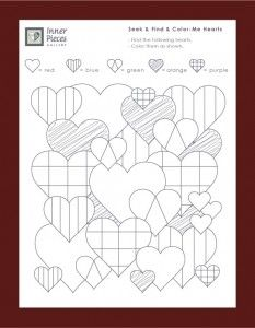 Valentine S Day Seek And Find And Color Me Hearts Visual Perception Activities Visual Discrimination Activities Visual Perceptual Activities