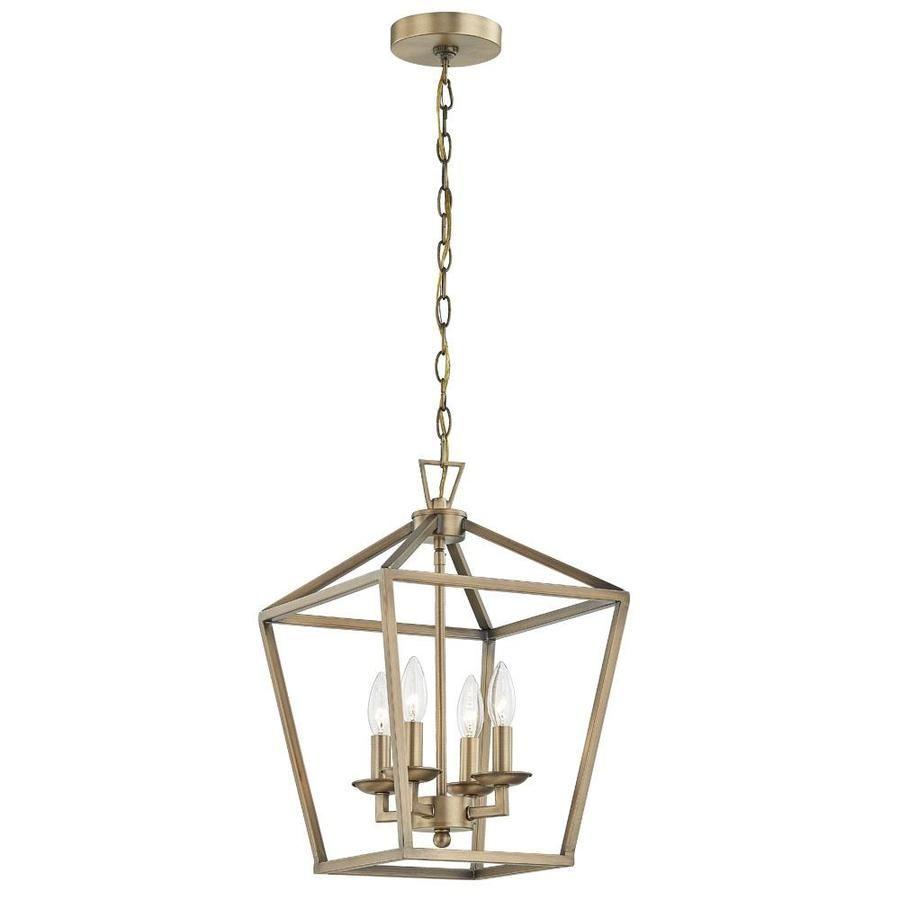 Allen Roth Farmhouse Lighting Collection Soft Gold Pendant Light