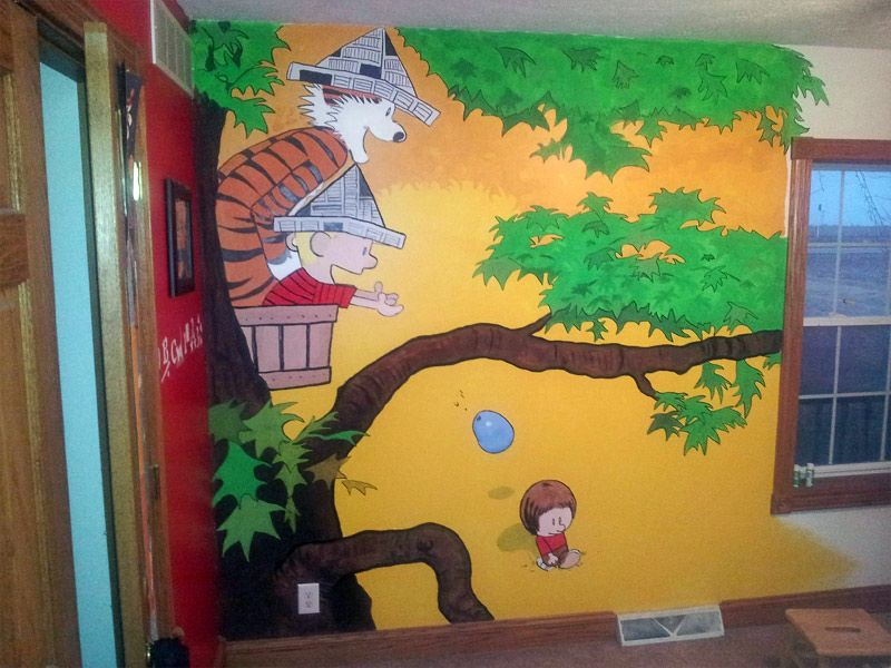 Calvin And Hobbes Themed Kid S Room Calvin And Hobbes