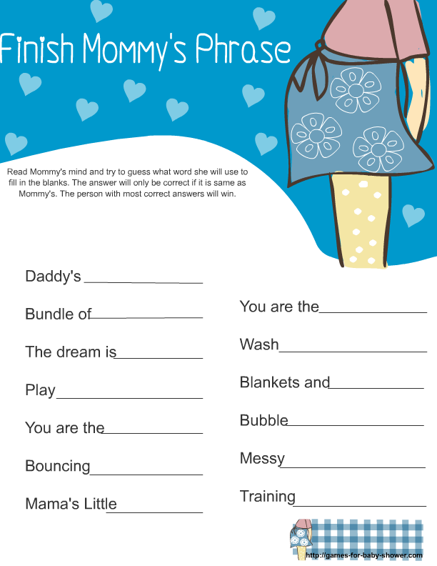 Baby Games For Boys Baby Shower Game In Blue Color Here Is
