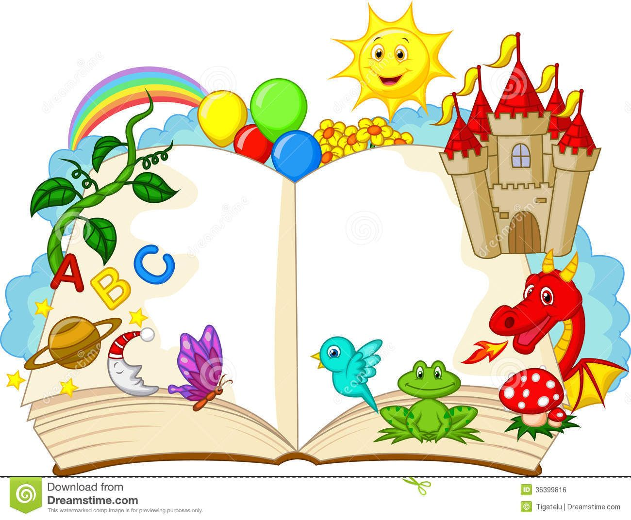 fantasy book cartoon royalty free stock image image 36399816 rh pinterest ca story book clipart black and white story book clipart