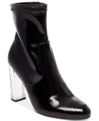0402a4b5f13 STEVE MADDEN Steve Madden Eminent Lucite Block-Heel Booties ...