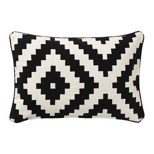 This Stylish Lappljung Ruta Black White Cushion Cover Is Extremely