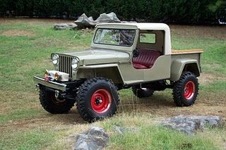 Willys Cj2a Love The Half Cab N Red Wheels Willys Willys Jeep