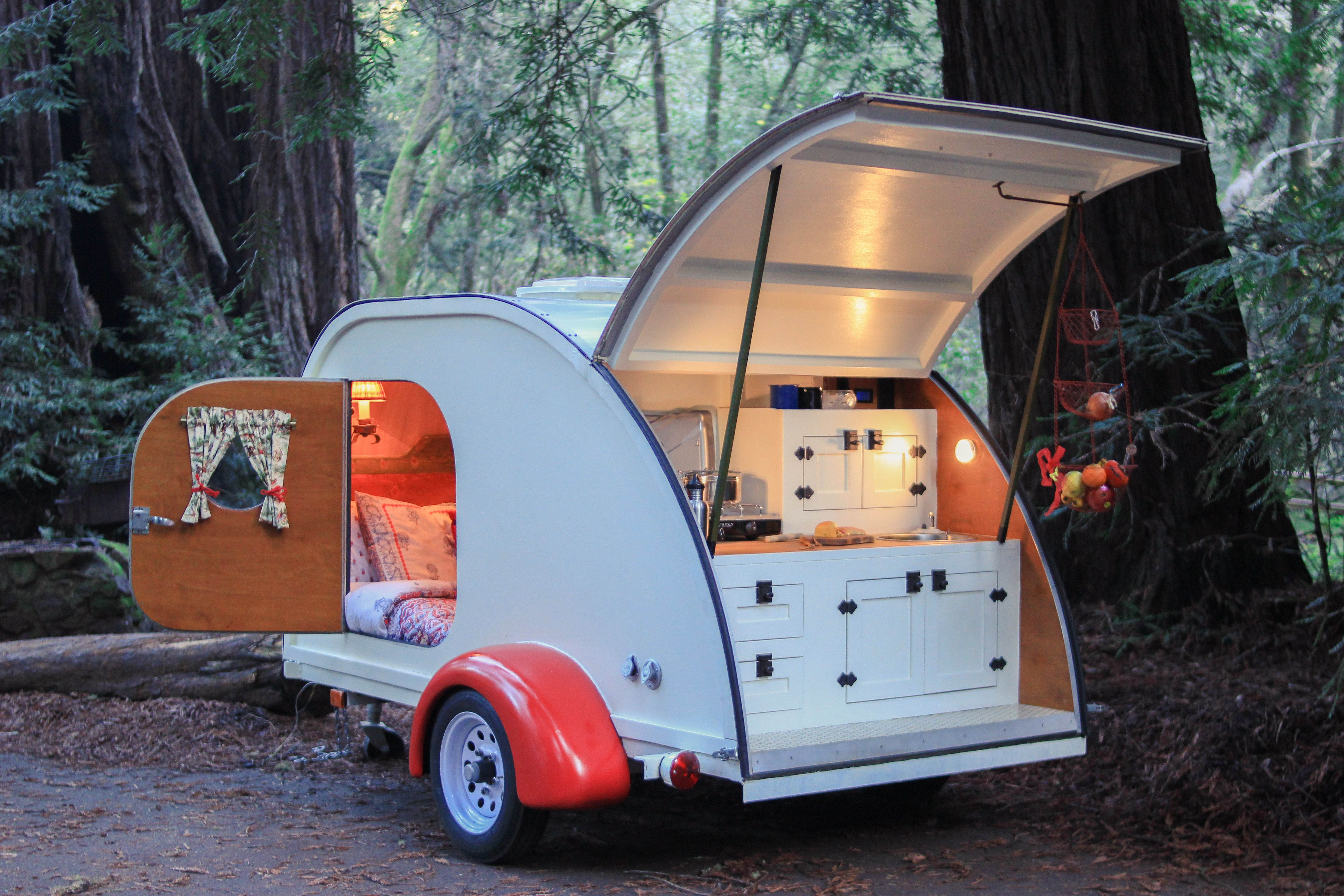 Photo 1 of 10 in No Trailer, No Problem—This Cozy Teardrop Is For ...