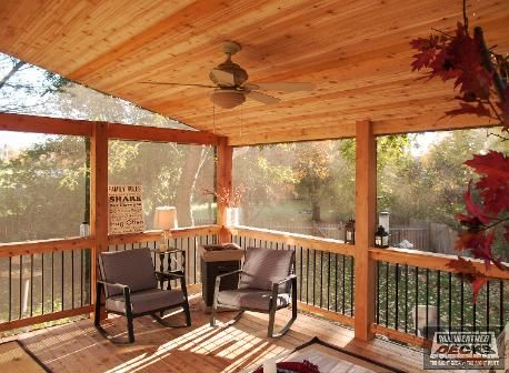 Covered Deck And Patio Pictures Built By All Weather Decks Screened In Porch Diy Patio Pictures Pergola On The Roof