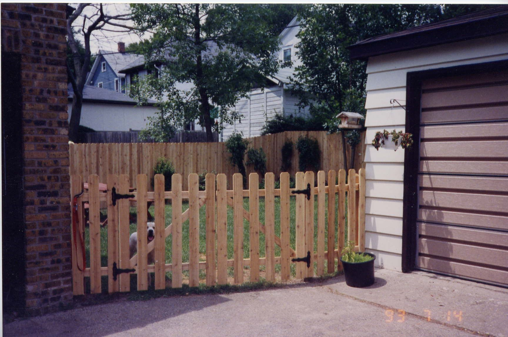 4 Ft Dog Ear Picket Fence With Double Gate Dog Ear Fence Double Gate Picket Fence