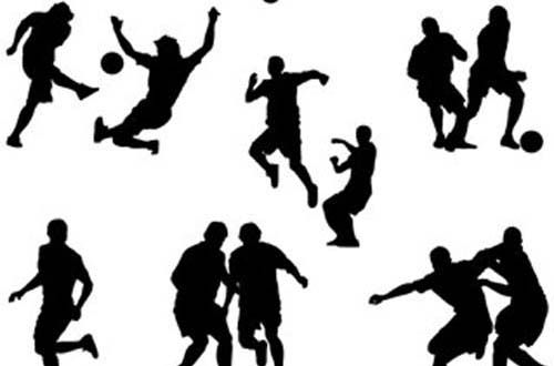 30 Free Sports Related Vector Graphics For Designers Soccer Players Silhouette Free Sport