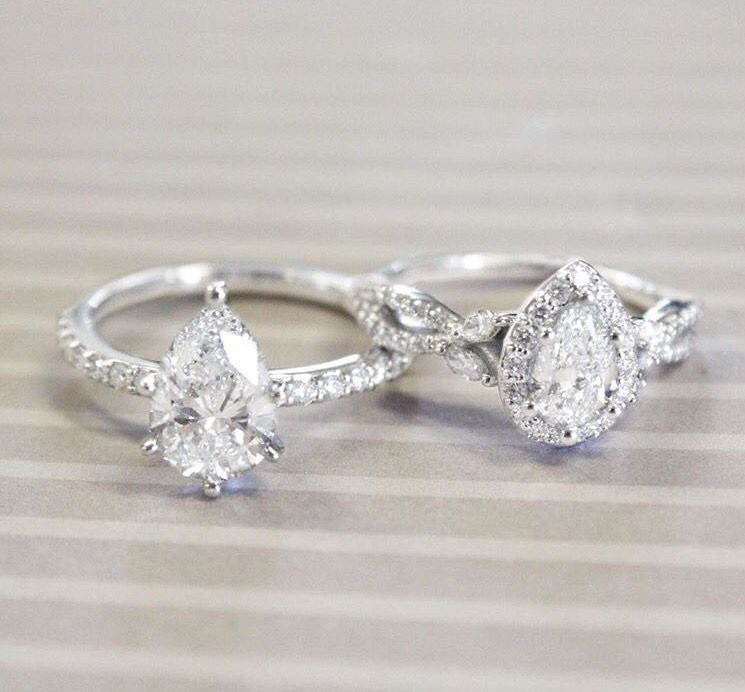 gorgeous teardrop engagement rings - Teardrop Wedding Rings