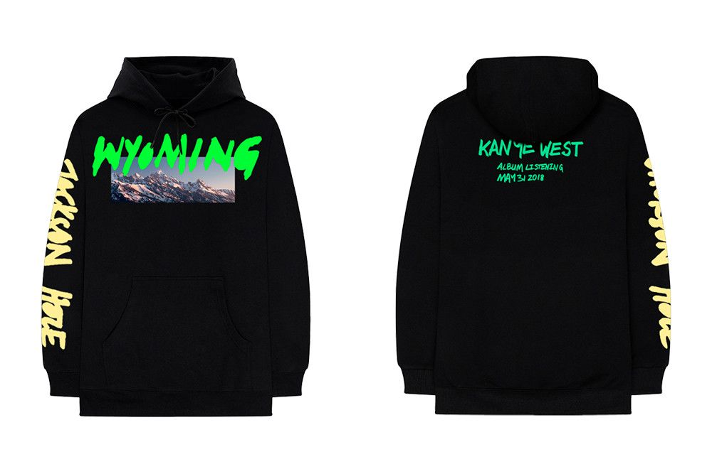 Kanye West S Wyoming Ye Listening Party Merch Is Available Now Kanye West Long Sleeve Hoodie Kanye
