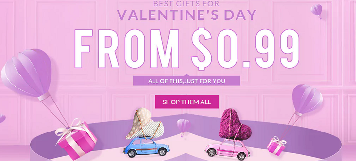 Rosegal Valentines Up to 70% OFF Last Minute Sweet Deals ...