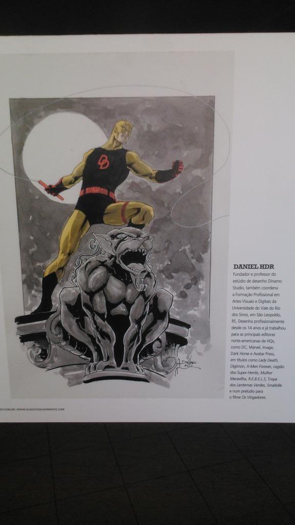 Quem notou que uma das artes da exposição do Demolidor é do amigo @danielhdr?  #QuadrimFestivalGuiaQuadrinhos
