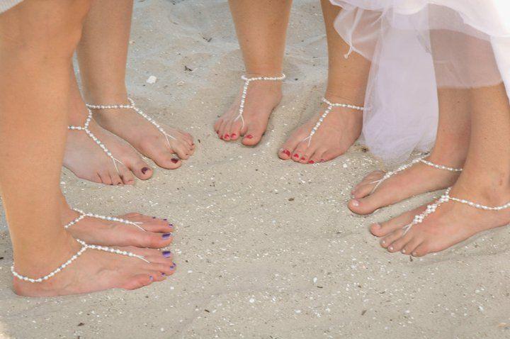 Sandy Beach Wedding Sandals Barefoot