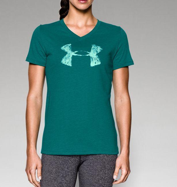 9fdf0bb77c73 Women s UA Charged Cotton® Tri-Blend Painted Logo T-Shirt. Under ArmourT ...