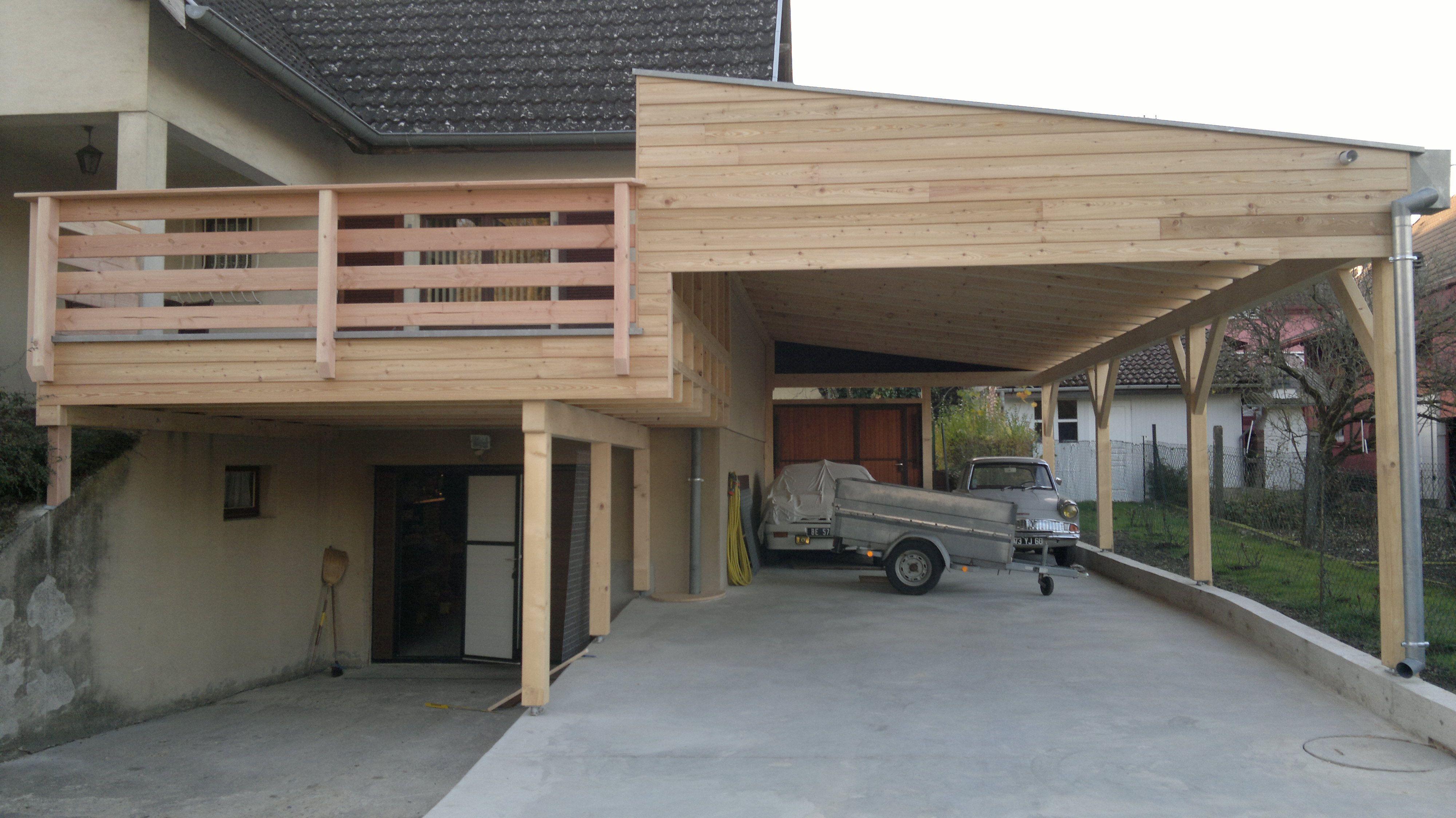 """Résultat de recherche d'images pour """"carport terrasse bois"""