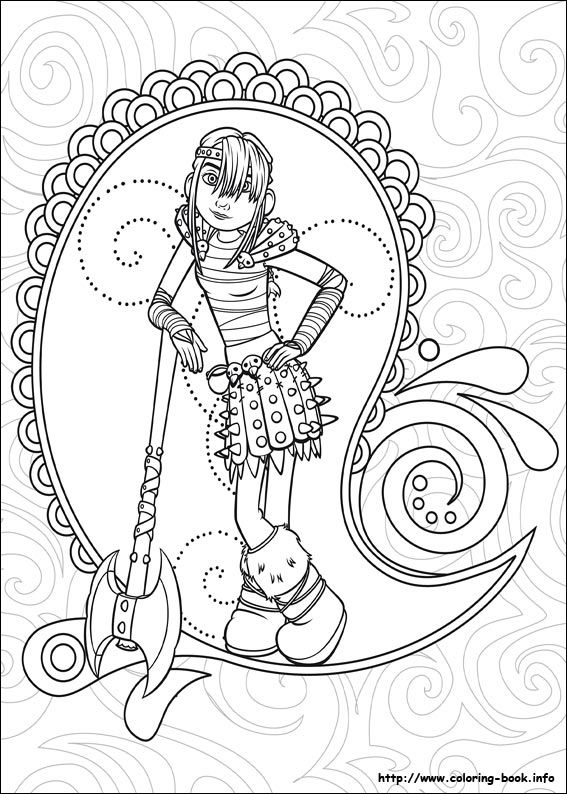 How to train your dragon coloring picture | Coloring and Activities ...