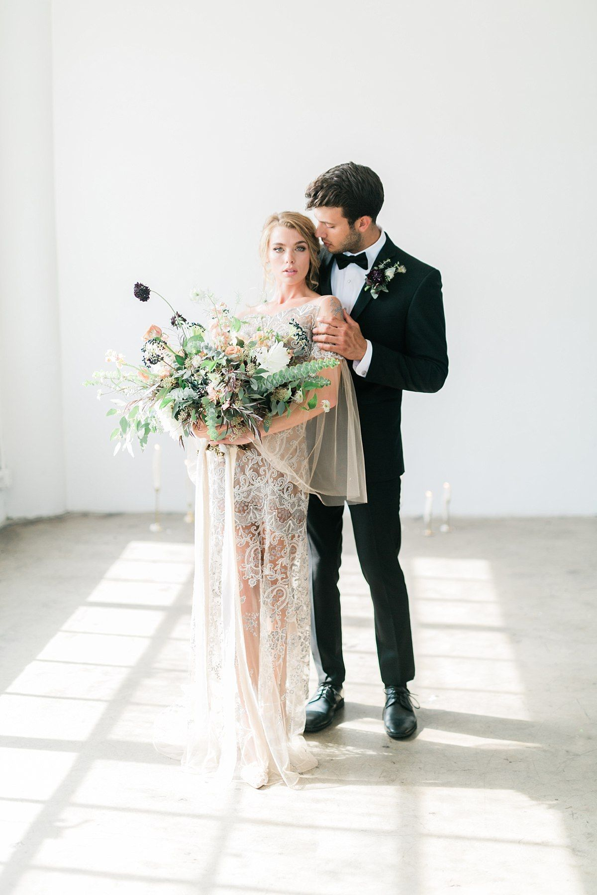 Soft Romantic Bridal Makeup On Fine Art Bride In La Loft