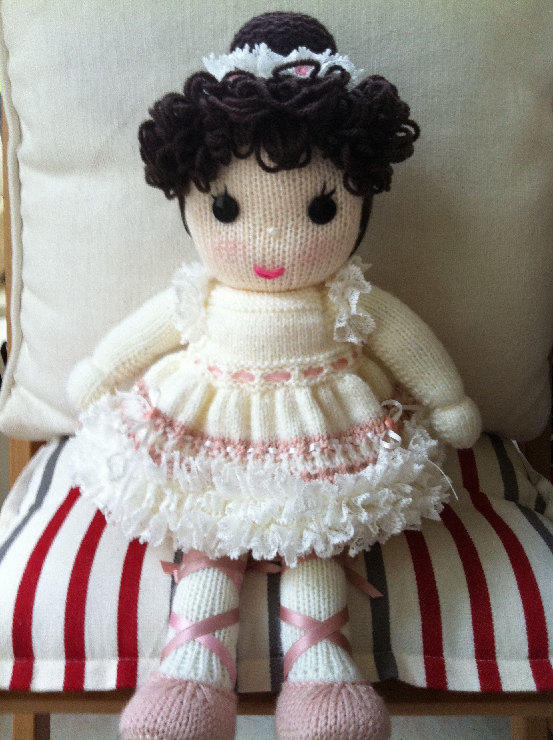 Hand Knit - Bettie Ballerina | Knitted dolls, Knitted doll ...