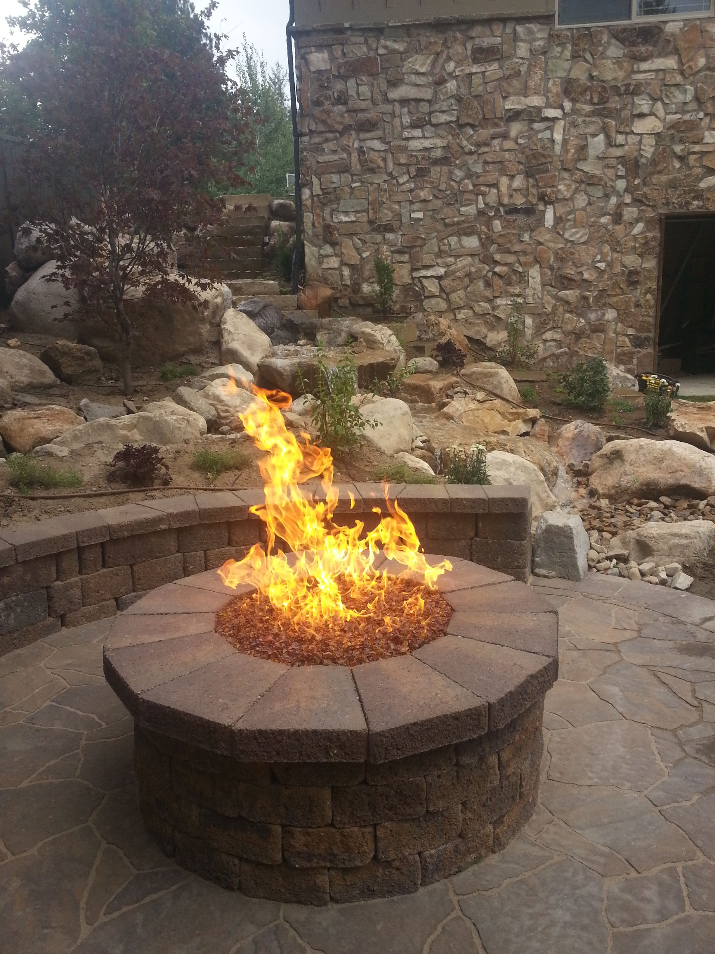 landscaping in the backyard in utah custom paver belgard natural