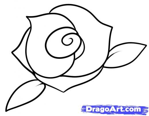 Step 7 how to draw a rose for kids