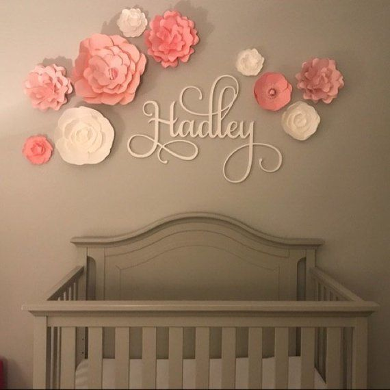 Custom Name Sign Wooden Name Baby Nursery Decor Dorm Etsy In 2020 Name Wall Decor Flower Nursery Baby Nursery Decor