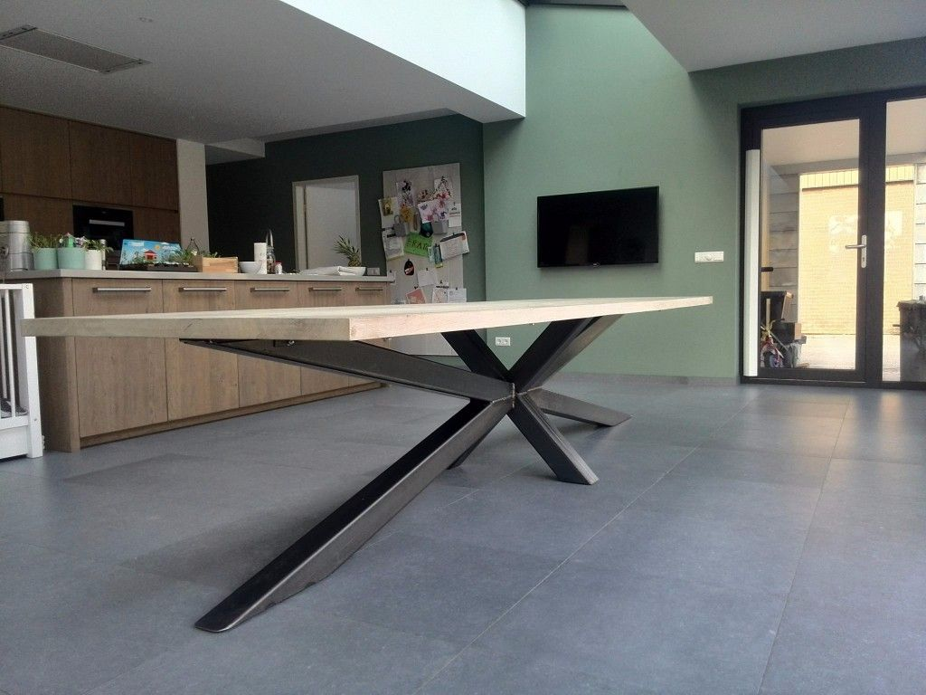 Tafel Op Maat Steel Dining Table Modern Dining Table Dining