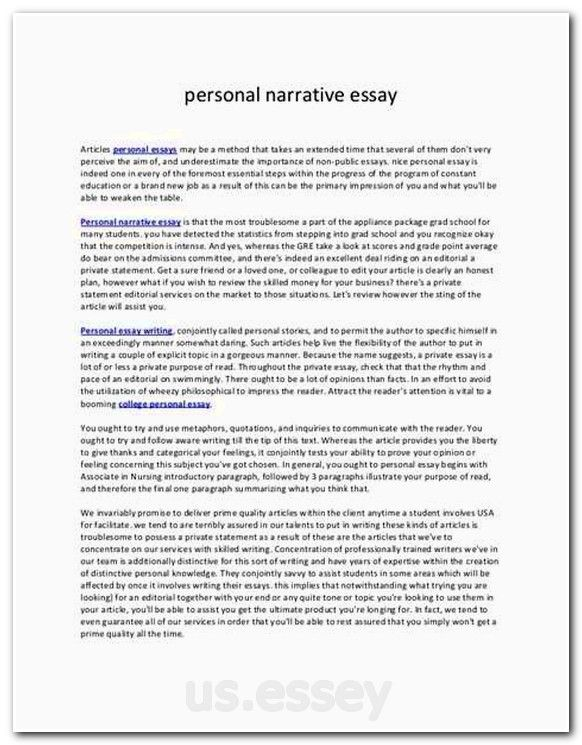 a personal narrative about ones life Personal narrative personal narrative: one nichelle a chandler adams state university abstract personal reflection is an essential part of learning, learning about theories means absolutely nothing until you can apply it to life in a real way.
