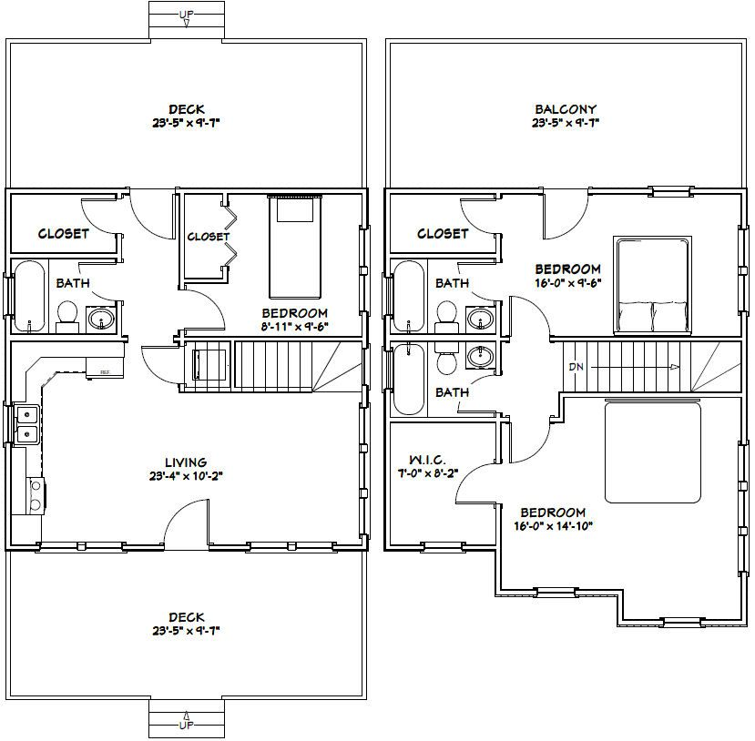 24x24 house 24x24h2 1 143 sq ft excellent floor for 24x24 two story house plans